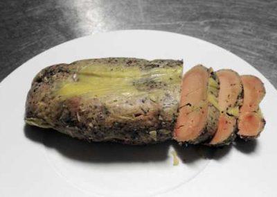 Foie gras decoupe