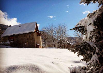 Clot Saint Joseph Nord Ouest champ neige et soleil