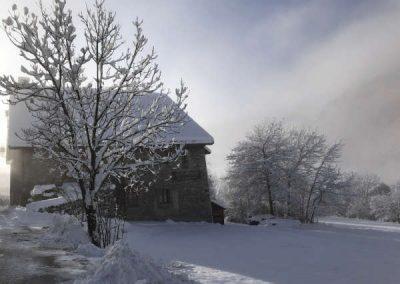Clot Saint Joseph Nord Soleil d'Hiver sous la neige