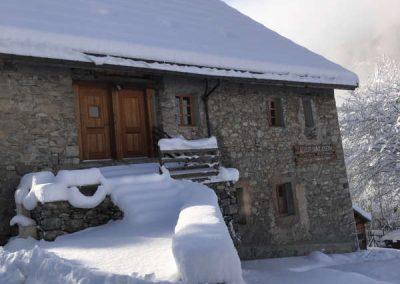 Clot Saint Joseph Entrée Nord soleil et neige