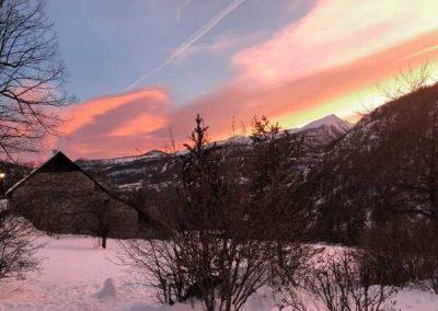 Puy Saint Vincent couche de soleil