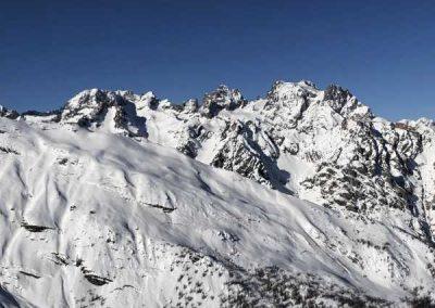 Puy Saint Vincent vue sommet Pelvoux