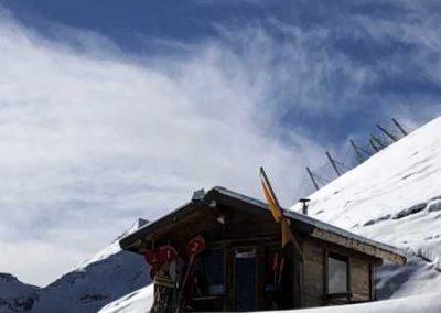 Vallouise pelvoux cabanne sommet des pistes
