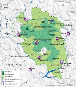 parc national des écrins zones coeur adhésion